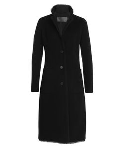 Donna Karan New York | Cashmere Coat With Silk Chiffon Hem Gr. Us 8