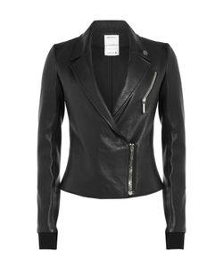 Anthony Vaccarello   Leather Biker Jacket Gr. Fr 38