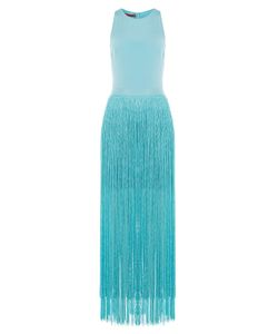 Tamara Mellon | Silk Dress With Fringed Skirt Gr. Us 2
