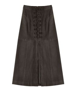 Tamara Mellon | Laced Suede Skirt Gr. Us 2