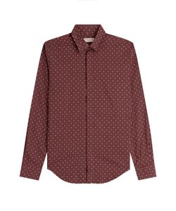 Burberry London | Slim Fit Printed Silk-Cotton Shirt Gr. M