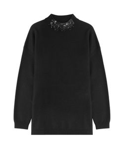 DKNY | Wool Pullover With Embellished Neckline Gr. L