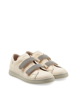 Brunello Cucinelli | Leather Sneakers With Embellished Straps Gr. It 38.5