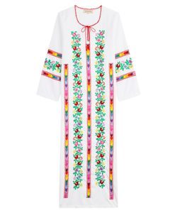 Muzungu Sisters | Embroidered Cotton Dress Gr. L