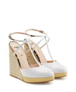 Fendi | Patent Leather T-Strap Wedges Gr. It 38