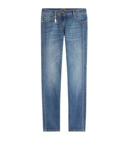 Roberto Cavalli   Straight Jeans With Contrast Stitching Gr. It 46