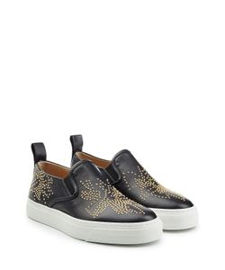 Chloé | Embellished Leather Slip-On Sneakers Gr. It 39