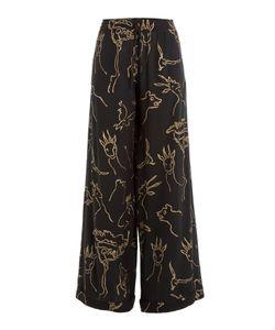Valentino | Printed Silk Wide Leg Pants Gr. Xs