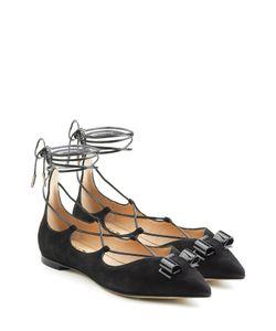 Salvatore Ferragamo | Suede Lace-Up Flats Gr. Us 9.5