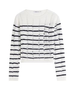 T by Alexander Wang | Striped Wool Pullover Gr. M