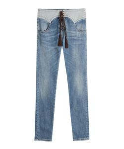 Roberto Cavalli   Jeans With Lace-Up Front Gr. It 40