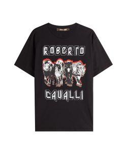 Roberto Cavalli   Printed Cotton T-Shirt Gr. It 38