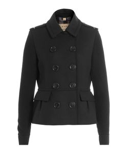 Burberry Brit | Wool Jacket With Contrast Sleeves Gr. Uk 10