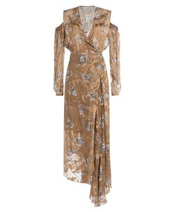Preen by Thornton Bregazzi | Printed Dress With Cut-Out Shoulders And Embellishment Gr. S