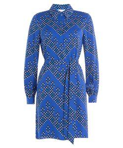 Diane von Furstenberg | Silk Jersey Printed Shirtdress Gr. Us 6
