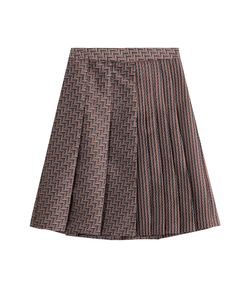 Diane von Furstenberg | Woven Skirt With Pleats Gr. Us 12