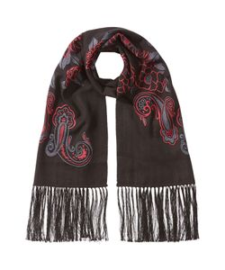 Etro | Embroidered Cashmere Scarf With Silk Gr. One Size
