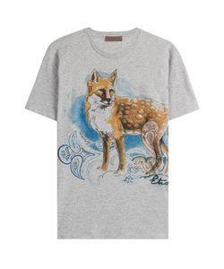Etro | Cotton Fox Print T-Shirt Gr. Xl