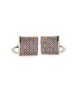 Etro | Silver Cufflinks With Enamel Patterning Gr. One Size