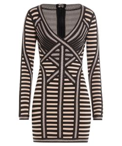 Hervé Léger | Striped Mini Dress Gr. L