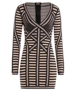 Hervé Léger   Striped Mini Dress Gr. L