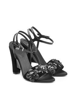Fendi | Velvet And Leather Sandals Gr. It 37.5