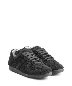 Maison Margiela | Leather And Shearling Sneakers Gr. Eu 37