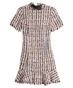 Sandy Liang | Tweed Dress With Mesh Inserts Gr. Fr 38