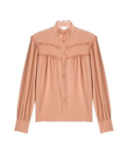 See by Chloé | Silk Blouse With Lace Gr. Fr 42