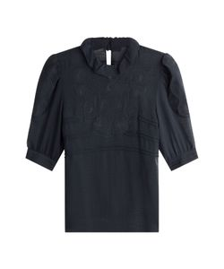 See by Chloé | Short Sleeved Top With Embroidery Gr. Fr 38