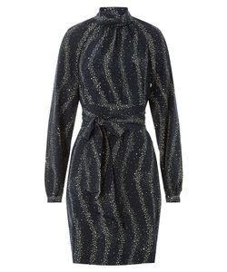 Vanessa Seward | Star Print Silk Dress With High Neck Gr. Fr 38