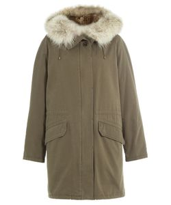 Army Yves Salomon | Cotton Parka With Fur Trimmed Hood Gr. Fr 40