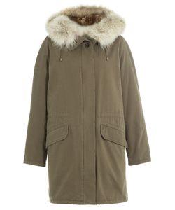 Army Yves Salomon   Cotton Parka With Fur Trimmed Hood Gr. Fr 40