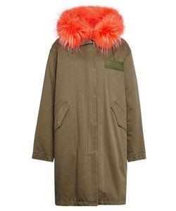 Army Yves Salomon | Cotton Parka With Fur Collar Gr. Fr 34