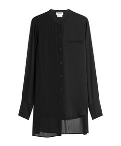 DKNY | Silk Blouse With Asymmetric Hem Gr. M