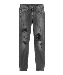 Seven for all Mankind   Distressed Skinny Jeans Gr. 26