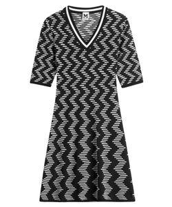 M Missoni | Cotton-Blend Two-Tone Knit Dress Gr. It 42