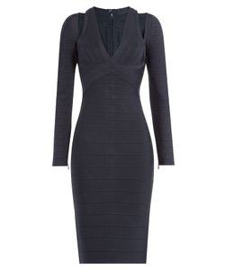 Hervé Léger | Bandage Dress With Cutouts Gr. M