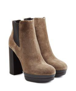 Hogan | Suede Platform Ankle Boots Gr. It 36