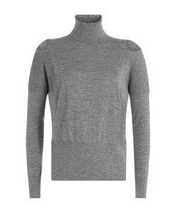 Vince | Wool Turtleneck Pullover With Cut-Out Shoulders Gr. Xs