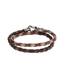 Tods | Braided Leather Wrap Bracelet Gr. One Size