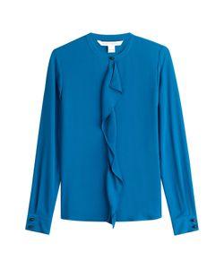 Diane von Furstenberg | Silk Ruffle Front Shirt Gr. Us 14
