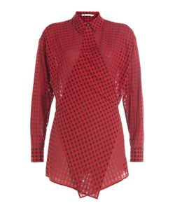 T by Alexander Wang | Wrap Around Printed Shirt Gr. Us 2