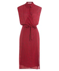T by Alexander Wang | Printed Wrap Dress With Virgin Wool Gr. Us 6