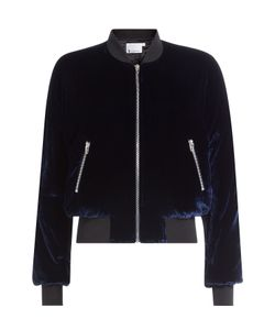 T by Alexander Wang | Velvet Bomber Jacket With Silk Gr. Us 0