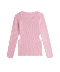 Emilia Wickstead | Wool-Silk-Cashmere Ribbed Pullover With Cutouts Gr. M