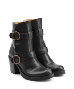 Fiorentini & Baker | Leather Ankle Boots With Buckled Straps Gr. It 38