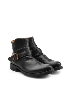 Fiorentini & Baker | Leather Buckle Strap Ankle Boots Gr. Eu 46