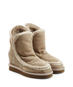 Mou | Eskimo Wedge Short Sheepskin Boots Gr. It 40