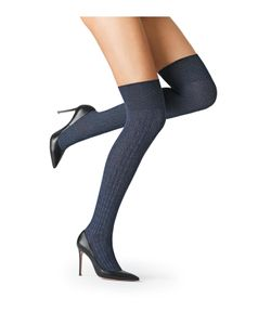 Fogal | Cotton Blend Over-Knee Socks Gr. S/M